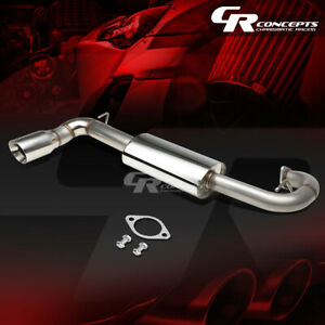 4 Oval Muffler Tip Axle Catback Racing Exhaust System For 11 16 Scion Tc Agt20