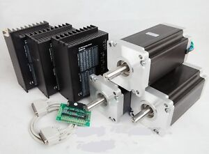 Us Free Ship 3axis Nema42 Stepper Motor 4120oz in 8 0a driver Cnc Router