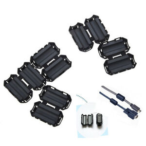 5x Clip On Emi Rfi Noise Ferrite Core Filter For 7mm Cable Jb