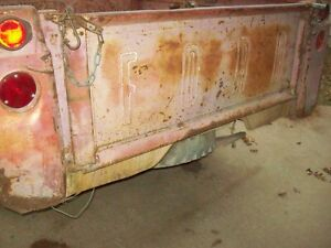 Vintage Late 50 S 60 S Ford Truck Original Tailgate Faded Original Red Paint