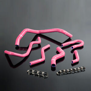 Silicone Radiator Hose Kit For Honda Civic 1 6l Sohc D15 D16 Eg Ek 92 00 Pink