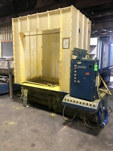 Nordson Nhc 4 Reclaim Batch Powder Booth W Versa Spray Manual Gun System