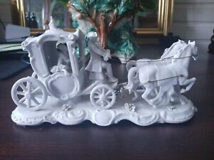 Volkstedt Lace Porcelain Carriage