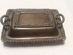 Rare Sterling Silver Sandborn S Number 8 Punch 1930 Mexico Covered Butter Dish