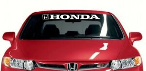 Honda Windshield Banner Decal Stickers Vinyl Size 36x3