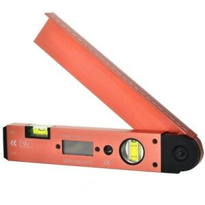 Portable Digital Lcd Display Angle Meter With Spirit Level 0 To 185 Degree