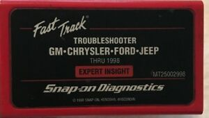 Snap On Mt25002998 Troubleshooter Cartridge Gm Chrysler Ford Jeep Thru 1998