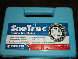 Tire Snow Chains Peerless 0113410 215 55 16 225 55 16 235 50 16 215 40 17