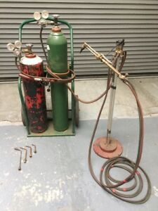 Oxy Oxygen Acetylene Gas Welding Torches Bottles Cart Gas Saver