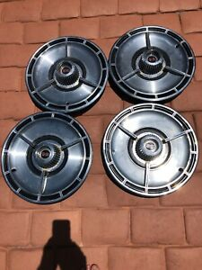 Original 1964 Chevy Impala Ss Wheel Covers Hub Caps 13 Great Condition