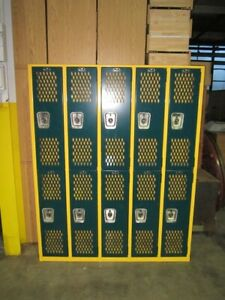 Superior Heavy Duty Metal School Gym Locker Double Tier 5 Wide 60w X 12d X 75h