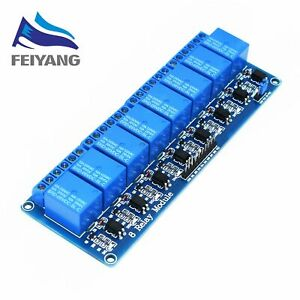10pcs Samiore Robot 5v 8 Channel Relay Module Board Pic Avr Mcu Dsp Arm Electro