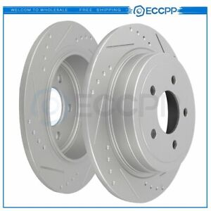 Rear Brake Discs Rotors For Ford Explorer Sport 2003 2004 2005 Solid And Slotted