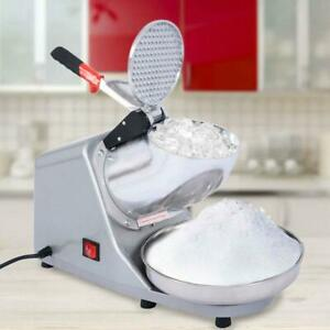 Durable 143lbs Electric Ice Crusher Shaver Machine Snow Cone Maker Shaved New
