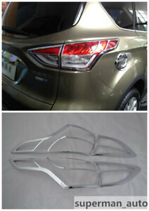 Abs Chrome Tail Rear Light Lamp Cover Trim 4pcs For Ford Escape Kuga 2013 2016