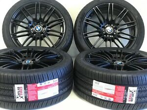 19 Set Of 4 Staggered Genuine Oem Bmw 269 Wheels Rims Tires Pwdr Coated Satin