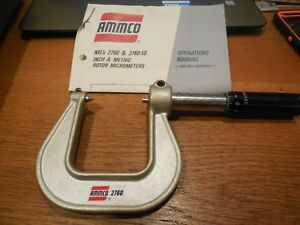 Ammco Rotor Micrometer Inch 2760 With Box And Instructions