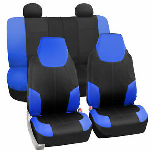 Neoprene Seat Covers For Auto For Highback Bucket Seats Car Suv Van Blue Black