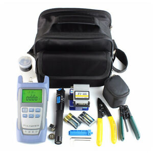 1set Hot Sale Fiber Optic Ftth Tools Kit Fc 6s Fiber Cleaver Optical Power Meter
