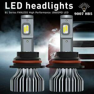 Auxito 9007 Led Headlight High low Beam 9000lm White Bulb Fanless Conversion Kit