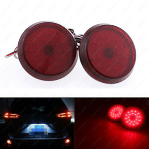 Cool Red Lens Led Bumper Reflectors For Scion Xb Iq Toyota Sienna Corolla 21 Smd