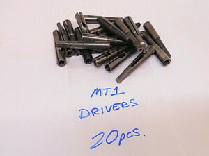 Lot Of 20 Used 1mt Drill Driver Tap Driver Split Sleeves usa Mt1