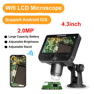 4 3inch 2 0mp 1000x Wifi Microscope Rechargeable Electronic Usb Hd 1080p Camera