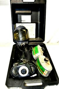Msa Gas Mask Type Gmd Mask W Canisters Used With Case Medium