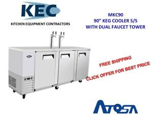 90 Keg Cooler With Dual Faucet Tower Mkc90