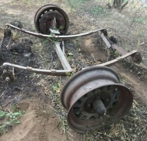 1933 Trailer Axle Dodge 16 Wood Wheels Plymouth Desoto Chrysler Six 1934 1935