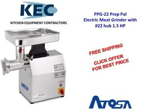 Atosa Electric Meat Grinder W 22 Hub 1 5 Hp Ppg 22