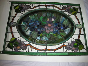 Vintage Stained Glass Window Panel 1950 S 1960 S