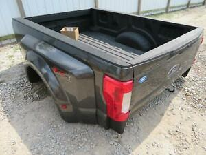 2017 2018 Ford F350 F450 Superduty Dually Dual Rear Wheel 8 Bed Box Dark Gray