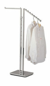 2 Way Clothes Rack With One Straight Arm