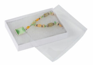 White Vu top Cotton Filled Jewelry Boxes 5 X 3 X Case Of 100