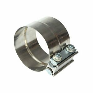 One Piece 3 T 304 Stainless Steel Lap Joint Band Exhaust Pipe Tube Clamp