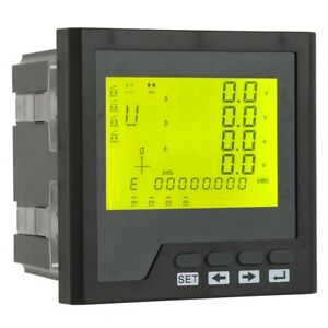 Ac 400v 5a Electric Instrument Three phase Power Ammeter Intelligent Digital