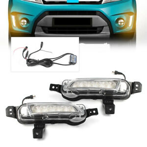 Pair Car Led Daytime Running Light Fog Lamp For 2015 Suzuki Vitara White Drl