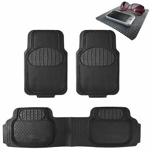 Auto Floor Mats Full Set 3pcs For Car Suv Vans 7 Colors Universal W Dash Mat