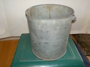 Galvanized Bucket Milk Maybe Pail Decor Bucket Vintage Size 9 By 8 5