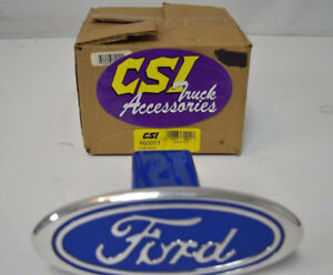 Csi Truck Accessories Ford Logo Hitch Cover 60011 Ford Blue