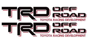 Toyota Trd Off Road Decals Tacoma Sticker 1pair Truck Bedside Black red