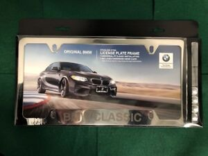 Bmw Classic Etched Polished License Plate Frame