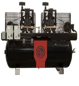 New Chicago Pneumatic 10 Hp Air Compressor Two Stage Electric Duplex Rcp 10121d