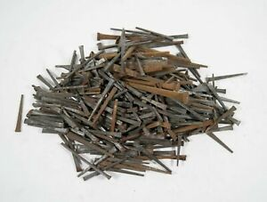 Vtg Lot Of 363 Rusty Patina Square Cut Assorted Nails Spikes Crafts Refurbishing