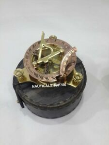 Nautical Sundial Copper Brass Compass Vintage Maritime Navigation Compass