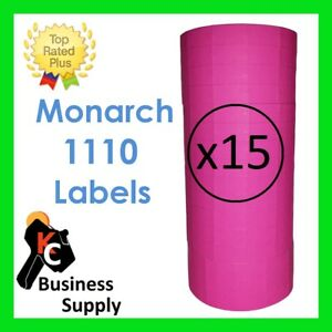 Monarch 1110 Pink Labels For One Line Label Price Gun 1 Case 15 Sleeves