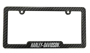 Harley Davidson Carbon Fiber Look Metal License Plate Frame For Cars