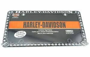 Harley Davidson Motorcycles Rivets Metal Auto Car Tag License Plate Frame