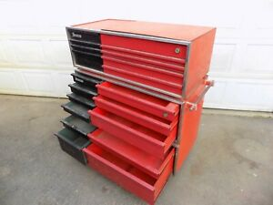 Vintage Snap On Kra 500 Deluxe Roll Away Tool Box Chest Kenosha Wis 1964